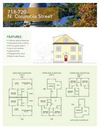718 and 720 floor plan and elevations for Columbia Villas